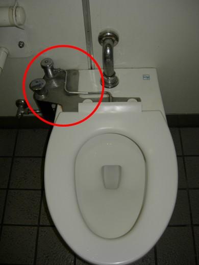 パウチしびん洗浄水栓使用型